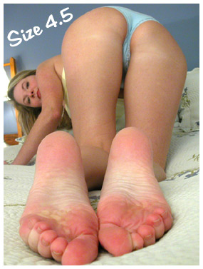 My Tiny Bare Feet with Wrinkly Soles