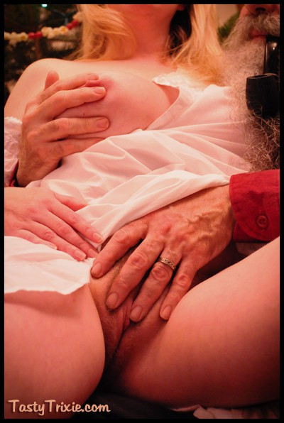 squeezed & fondled by Santa