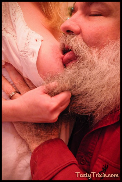 Santa licks my nipple