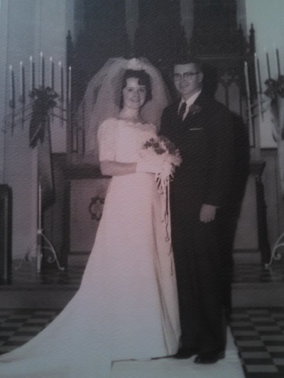 Trixie's mom and dad in black and white 50 years ago