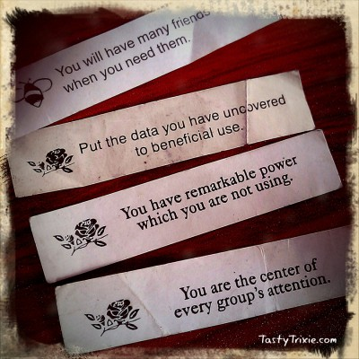 Rediscovered fortune-cookie fortunes