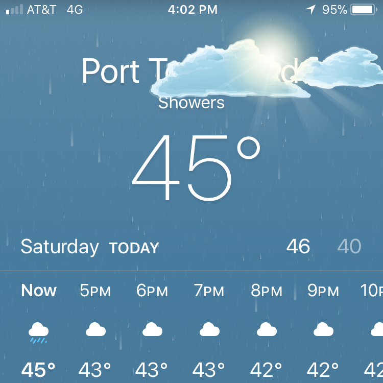winter weather in port touchdown