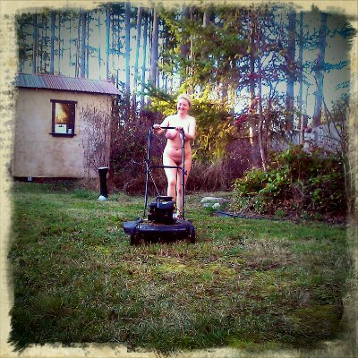 Mowing The Lawn Naked In January
